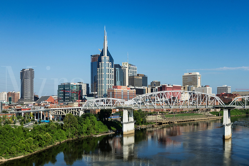 Nashville city skyline, Tennessee, USA.