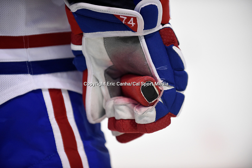 Montreal Canadiens defenseman Alexei Emelin (74) waits for a face off during the NHL game between the Montreal Canadiens and the Boston Bruins held at TD Garden, in Boston, Massachusetts. Montreal defeats Boston 4-2 in regulation time. Eric Canha/CSM
