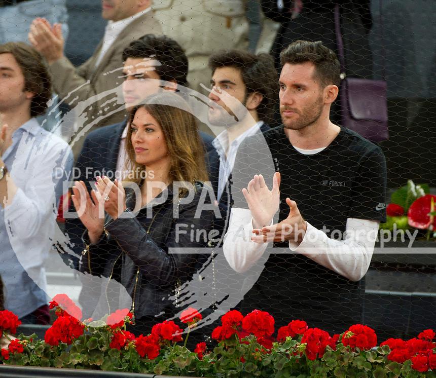 Helen Lindes and her husband Rela Madrid's player Rudy Fernandez
