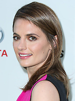 BURBANK, CA, USA - OCTOBER 18: Stana Katic arrives at the 2014 Environmental Media Awards held at Warner Bros. Studios on October 18, 2014 in Burbank, California, United States. (Photo by Xavier Collin/Celebrity Monitor)