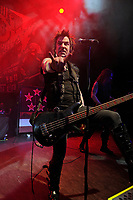 LONDON, ENGLAND - MARCH 11: Rachel Bolan of 'Skid Row' performing at Shepherd's Bush Empire on March 11, 2018 in London, England.<br /> CAP/MAR<br /> &copy;MAR/Capital Pictures