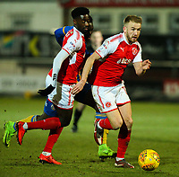 Fleetwood Town's Paddy Madden runs at the Shrewsbury Town defence<br /> <br /> Photographer Alex Dodd/CameraSport<br /> <br /> The EFL Sky Bet League One - Fleetwood Town v Shrewsbury Town - Tuesday 13th February 2018 - Highbury Stadium - Fleetwood<br /> <br /> World Copyright &copy; 2018 CameraSport. All rights reserved. 43 Linden Ave. Countesthorpe. Leicester. England. LE8 5PG - Tel: +44 (0) 116 277 4147 - admin@camerasport.com - www.camerasport.com