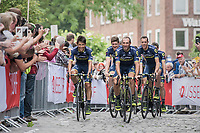Johan Esteban Chaves (COL/ORICA-Scott) &amp; teammates<br /> <br /> &quot;Le Grand D&eacute;part&quot; <br /> 104th Tour de France 2017 <br /> Team Presentation in D&uuml;sseldorf/Germany