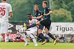 20.07.2018, Parkstadion, Zell am Ziller, AUT, FSP, 1.FBL, SV Werder Bremen (GER) vs 1. FC Koeln (GER)<br /> <br /> im Bild<br /> Sehrou Guirassy (Koeln #19) im Duell / im Zweikampf mit Philipp Bargfrede (Werder Bremen #44) und Niklas Moisander (Werder Bremen #18), <br /> <br /> Foto © nordphoto / Ewert