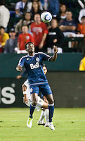 CARSON, CA - September 17, 2011: Vancouver Whitecaps forward Mustapha Jarju (7) during the match between LA Galaxy and Vancouver Whitecaps at the Home Depot Center in Carson, California. Final score LA Galaxy 3, Vancouver Whitecaps 0.