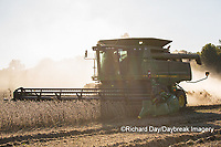 63801-07403 Soybean harvest with John Deere combine in Marion Co. IL