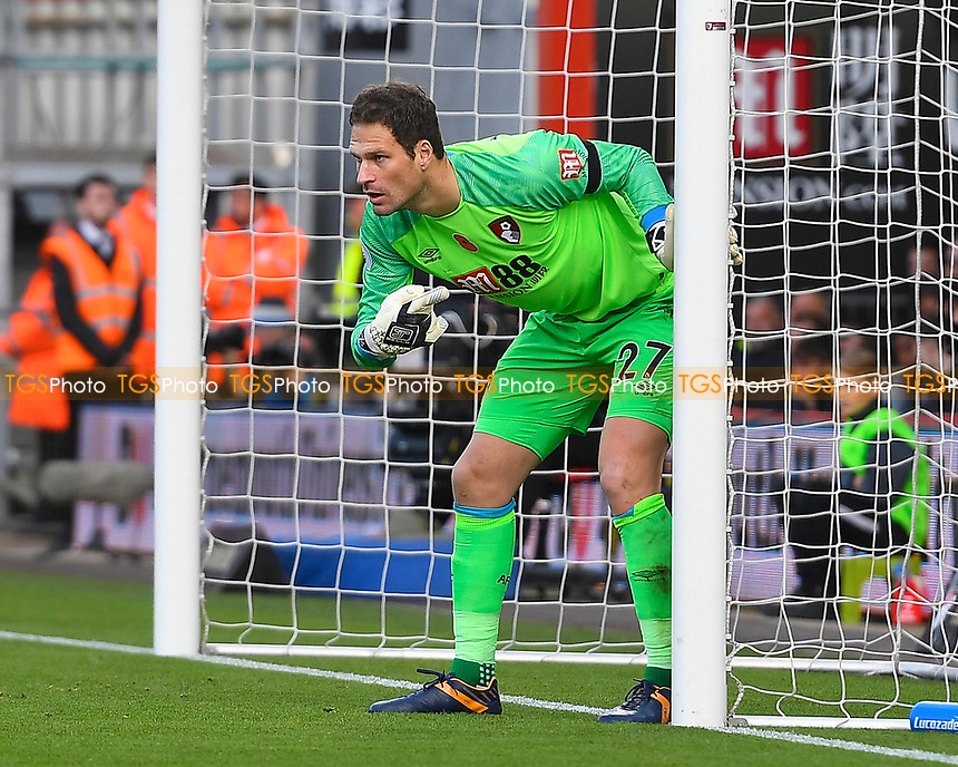 Asmir Begovic of AFC Bournemouth during AFC Bournemouth vs Manchester United, Premier League Football at the Vitality Stadium on 3rd November 2018