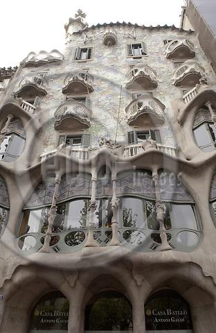 Barcelona-Spain - 15 April 2006---Casa Batlló (Batllo) built by Antoni Gaudí (Gaudi) 1904-1906---culture, architecture---Photo: Horst Wagner / eup-images