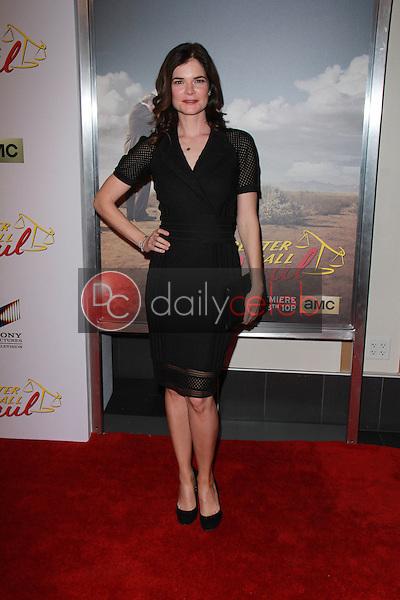 "Betsy Brandt<br /> at the ""Better Call Saul"" Series Premiere Screening, Regal Cinemas, Los Angeles, CA 01-29-15<br /> David Edwards/DailyCeleb.com 818-249-4998"