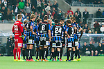 Stockholm 2014-09-28 Fotboll Superettan Hammarby IF - IK Sirius :  <br /> Sirius spelare samlas i en ring efter att Hammarbys Johan Persson gjort 2-0 <br /> (Foto: Kenta J&ouml;nsson) Nyckelord:  Superettan Tele2 Arena Hammarby HIF Bajen Sirius IKS depp besviken besvikelse sorg ledsen deppig nedst&auml;md uppgiven sad disappointment disappointed dejected