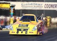 Nov 11, 2016; Pomona, CA, USA; NHRA funny car driver Bob Bode during qualifying for the Auto Club Finals at Auto Club Raceway at Pomona. Mandatory Credit: Mark J. Rebilas-USA TODAY Sports