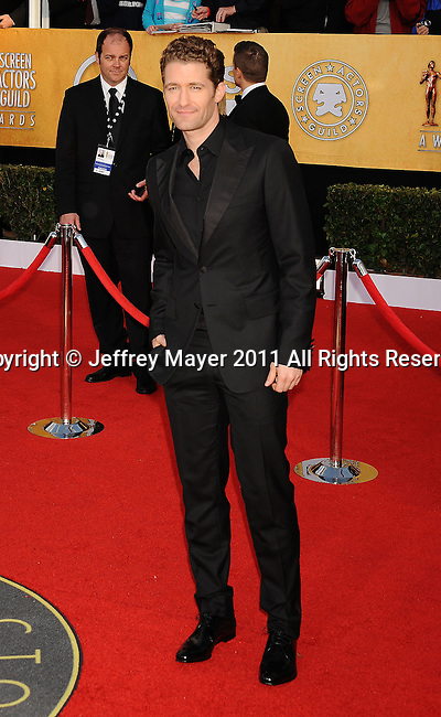 LOS ANGELES, CA - January 30: Matthew Morrison arrives at the 17th Annual Screen Actors Guild Awards held at The Shrine Auditorium on January 30, 2011 in Los Angeles, California.