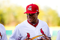 Thomas Pham (22) of the Springfield Cardinals smiles during a game against the St. Louis Cardinals at Hammons Field on April 2, 2012 in Springfield, Missouri. (David Welker/Four Seam Images)