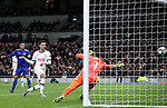 Tottenham's Dele Alli scoring his sides opening goal during the UEFA Champions League match at the Tottenham Hotspur Stadium, London. Picture date: 26th November 2019. Picture credit should read: David Klein/Sportimage