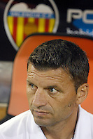 Valencia's coach Miroslav Djukic during La Liga match.September 1,2013. (ALTERPHOTOS/Acero) <br /> Football Calcio 2013/2014<br /> La Liga Spagna<br /> Foto Alterphotos / Insidefoto <br /> ITALY ONLY