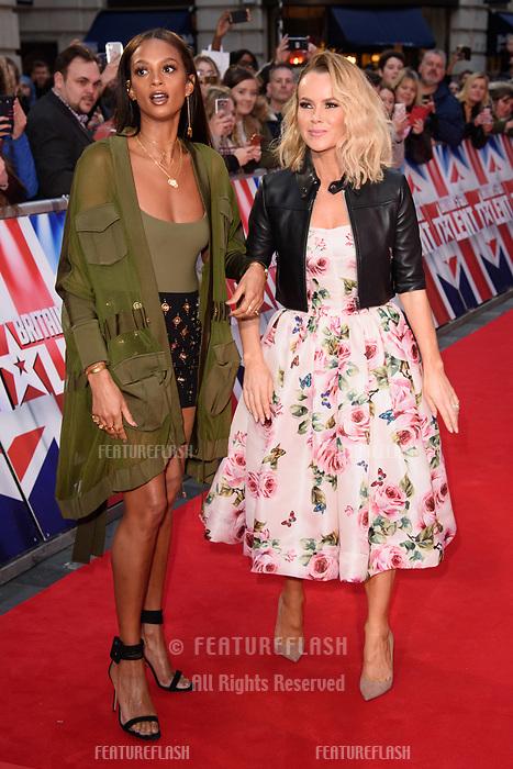 Alesha Dixon &amp; Amanda Holden at the London auditions for Britain's Got Talent 2018 at the London Palladium, London, UK. <br /> 28 January  2018<br /> Picture: Steve Vas/Featureflash/SilverHub 0208 004 5359 sales@silverhubmedia.com