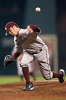 Arizona State starting pitcher Joey Parigi (4) delivers the ball to the plate versus Vanderbilt at the 2007 Houston College Classic at Minute Maid Park in Houston, TX, Saturday, February 10, 2007.  The Commodores defeated the Sun Devils 7-6 in 10 innings.