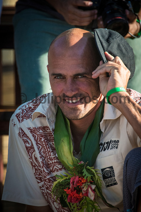 Namotu Island Resort, Namotu, Fiji. (Saturday May 31, 2014) Kelly Slater (USA) –  The official Opening Ceremony for the 2014 Fiji Pro was held this afternoon on Tavarua Island with a tradition blessing and kava ceremony for the officials and Top 34 surfers. Photo: joliphotos.com