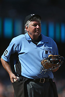 SAN FRANCISCO, CA - JULY 9:  Home plate umpire Tom Hallion works the game between the Miami Marlins and San Francisco Giants at AT&T Park on Sunday, July 9, 2017 in San Francisco, California. (Photo by Brad Mangin)