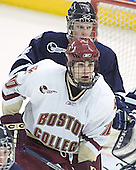 Craig Switzer, Brian Boyle - The Boston College Eagles and University of New Hampshire earned a 3-3 tie on Thursday, March 2, 2006, on Senior Night at Kelley Rink at Conte Forum in Chestnut Hill, MA.  Boston College honored its three seniors, captain Peter Harrold and alternate captains Chris Collins and Stephen Gionta, before the game.