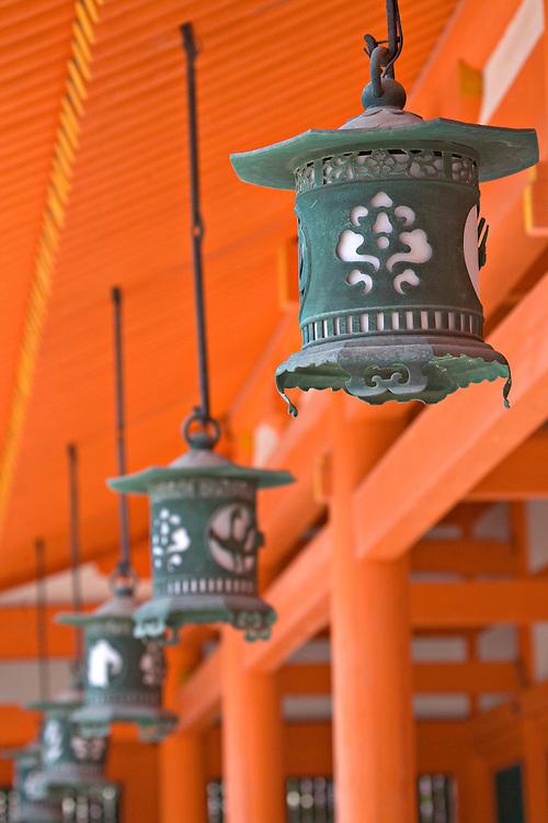 Line of lanterns at Heian-Jingu Shrine