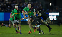 Harlequins' Alex Dombrandt in action during todays match<br /> <br /> Photographer Bob Bradford/CameraSport<br /> <br /> European Rugby Heineken Champions Cup Group C - Bath Rugby v Harlequins - Friday 10th January 2020 - The Recreation Ground - Bath<br /> <br /> World Copyright © 2019 CameraSport. All rights reserved. 43 Linden Ave. Countesthorpe. Leicester. England. LE8 5PG - Tel: +44 (0) 116 277 4147 - admin@camerasport.com - www.camerasport.com