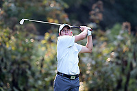 SAPPHIRE, NC - OCTOBER 01: Mason Quagliata of Stetson University tees off at The Country Club of Sapphire Valley on October 01, 2019 in Sapphire, North Carolina.