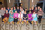 Retirement party for 3 Nurses from the KGH at Ballyroe Heights hotel on Thursday centre Siobhan Horgan (Tralee retiring after 20+ years service), Markie Tarrant (Tralee retiring after 41 years service), Kay Griffin (Cordal, Castleisland retiring after 40 years service) Pictured Front l-r Richard Walsh, Mary Shea, Siobhan Horgan (Tralee retiring after 20+ years service), Markie Tarrant (Tralee retiring after 41 years service), Kay Griffin (Cordal, Castleisland retiring after 40 years service), Priscilla Lyons, Mary Fitzgerald.  Back l-r Dymphna Griffin, Sheila McGillycuddy, Noreen O'Sullivan, Liz Galvin, Ann Holly, Eileen Walsh, Linda O'Sullivan, Fiona Lawlor, May Quirke, Eilish Meehan, Anna Marie Nelligan, Mary Stack Courtney, Marie Nolan, Mena Butler, Denise Thornton