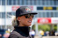 May 6, 2017; Commerce, GA, USA; NHRA top fuel driver Leah Pritchett during qualifying for the Southern Nationals at Atlanta Dragway. Mandatory Credit: Mark J. Rebilas-USA TODAY Sports
