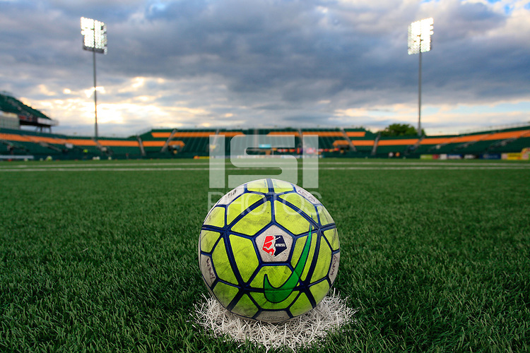 Rochester, NY - Friday July 01, 2016: A soccer ball prior to a regular season National Women's Soccer League (NWSL) match between the Western New York Flash and the Chicago Red Stars at Rochester Rhinos Stadium.