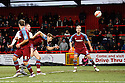 Chris Beardsley of Stevenage scores their first goal. - Stevenage v Tranmere Rovers - npower League 1 - Lamex Stadium, Stevenage - 17th December 2011  .© Kevin Coleman 2011 ... ....  ...  . .
