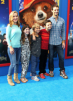 6 January 2018 - Los Angeles, California - Angela Kinsey with husband Josh Snyder and family. &ldquo;Paddington 2&rdquo; L.A. Premiere held at the Regency Village Theatre.     <br /> CAP/ADM<br /> &copy;ADM/Capital Pictures