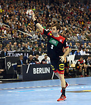 10.01.2019, Mercedes Benz Arena, Berlin, GER, Handball WM 2019, Deutschland vs. Korea, im Bild <br /> Uwe Gensheimer (GER #3) beim 7m<br /> <br />      <br /> Foto © nordphoto / Engler