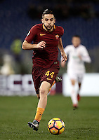 Calcio, Serie A: Roma, Stadio Olimpico, 7 febbraio 2017.<br /> Roma' s Kostas Manolas in action during the Italian Serie A football match between AS Roma and Fiorentina at Roma's Olympic Stadium, on February 7, 2017.<br /> UPDATE IMAGES PRESS/Isabella Bonotto