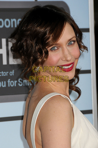 "VERA FARMIGA .Attending the ""Up In The Air"" Los Angeles Premiere held at Mann's Village Theatre, Westwood, California , USA, .30th November 2009..portrait headshot earrings red lipstick smiling make-up star stars white cream .CAP/ADM/BP.©Byron Purvis/AdMedia/Capital Pictures."