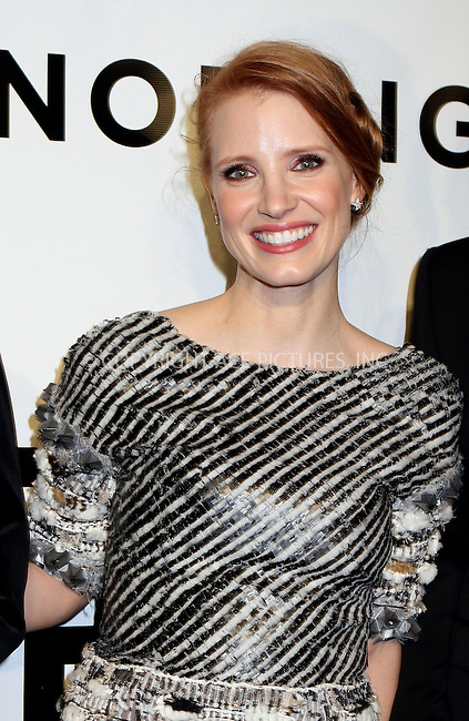 WWW.ACEPIXS.COM<br /> <br /> November 6 2013, New York City<br /> <br /> Jessica Chastain arriving at An Evening Honoring Karl Lagerfeld at Alice Tully Hall on November 6, 2013 in New York City.<br /> <br /> <br /> <br /> By Line: Nancy Rivera/ACE Pictures<br /> <br /> <br /> ACE Pictures, Inc.<br /> tel: 646 769 0430<br /> Email: info@acepixs.com<br /> www.acepixs.com