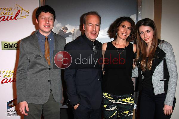 "Bob Odenkirk, family<br /> at the ""Better Call Saul"" Series Premiere Screening, Regal Cinemas, Los Angeles, CA 01-29-15<br /> David Edwards/DailyCeleb.com 818-249-4998"