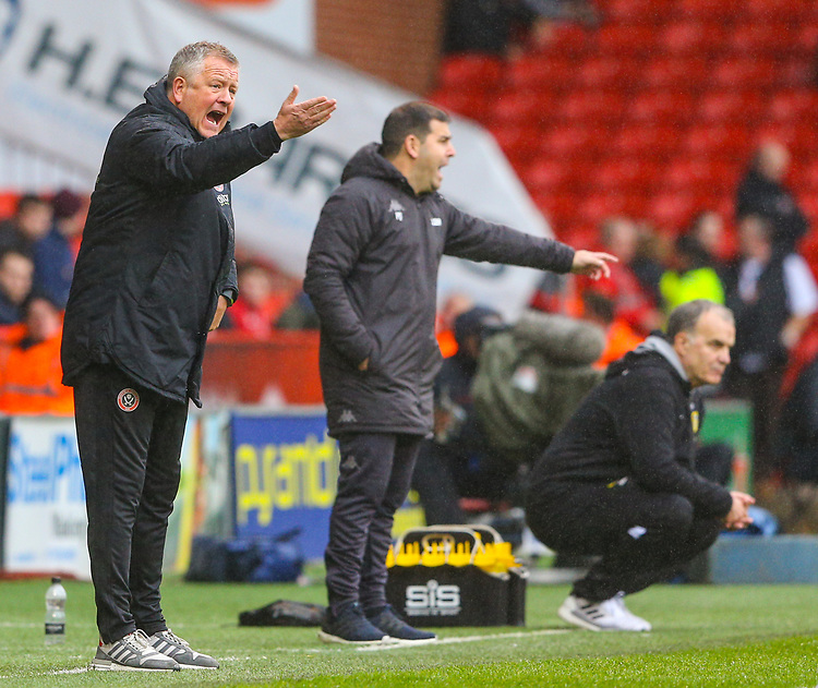 Sheffield United manager Chris Wilder<br /> <br /> Photographer Alex Dodd/CameraSport<br /> <br /> The EFL Sky Bet Championship - Sheffield United v Leeds United - Saturday 1st December 2018 - Bramall Lane - Sheffield<br /> <br /> World Copyright © 2018 CameraSport. All rights reserved. 43 Linden Ave. Countesthorpe. Leicester. England. LE8 5PG - Tel: +44 (0) 116 277 4147 - admin@camerasport.com - www.camerasport.com