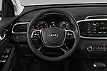 Car pictures of steering wheel view of a 2020 KIA Sorento S-V6 5 Door SUV Steering Wheel