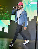 MIAMI BEACH, FL - OCTOBER 10: Chancellor Johnathan Bennett aka Chance The Rapper performs onstage during the Magnificent Coloring World Tour at Fillmore Miami Beach at the Jackie Gleason Theater on October 10, 2016 in Miami Beach, Florida. Credit: MPI10 / MediaPunch