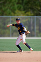 Jack O'Dowd during the WWBA World Championship at the Roger Dean Complex on October 18, 2018 in Jupiter, Florida.  Jack O'Dowd is a middle infielder from Boca Grande, Florida who attends IMG Academy and is committed to Vanderbilt.  (Mike Janes/Four Seam Images)