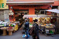 Herb and spice shop 'Saladin Epices du Monde' in the Noailles district of Marseille, France, 04 February 2013