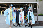 WATERBURY, CT- 21 June  2017-062117CM05-  Waterbury Arts Magnet School graduates from left, Cindy Bustillo, Rebekah Ross, Christopher Leone Castillo, Sierra Cushman, Euphrates Sackey and Aliza Caban stand for a photo during commencement exercises at the Palace Theater in Waterbury on Wednesday.  Christopher Massa Republican-American