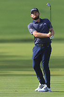 Tyrrell Hatton (ENG) on the 2nd during Round 3 of the Omega Dubai Desert Classic, Emirates Golf Club, Dubai,  United Arab Emirates. 26/01/2019<br /> Picture: Golffile | Thos Caffrey<br /> <br /> <br /> All photo usage must carry mandatory copyright credit (© Golffile | Thos Caffrey)