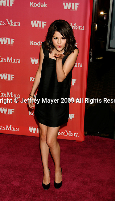 CENTURY CITY, CA. - June 12: Selena Gomez arrives at Women In Film's 2009 Crystal + Lucy Awards held at the Hyatt Regency Century Plaza on June 12, 2009 in Century City, California.