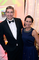 Former Kerry footballer Maurice and Sharon Fitzgerald, The Sea Lodge Hotel, Waterville pictured at the annual Kerry Hoteliers Ball in The Muckross Park Hotel at the weekend. <br /> Photo: Don MacMonagle<br /> <br /> Repro free photo