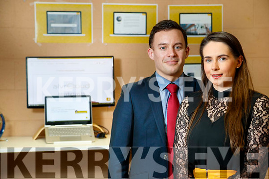 Gearoid Kearney (My Access Hub) and Miriam O'Sullivan (Co Founder MyAccess Hub) at the Tom Crean Building in KTP, Tralee.