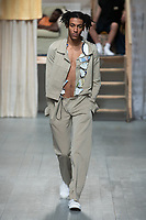 Per G&ouml;tesson shows his collection and his Spring Summer 2019 Catwalk Show  SS19 at London Fashion Week. London, England in June 2018.<br /> *Editorial Use Only*<br /> CAP/PLF<br /> please credit Chris Yates<br /> Image supplied by Capital Pictures
