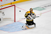 June 6, 2019: Boston Bruins goaltender Tuukka Rask (40) makes a save during game 5 of the NHL Stanley Cup Finals between the St Louis Blues and the Boston Bruins held at TD Garden, in Boston, Mass. Eric Canha/CSM