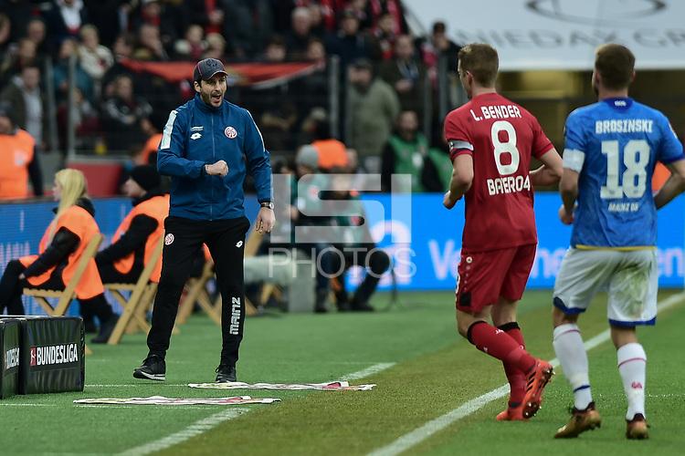 Football : Germany -1. Bundesliga  2017/18 <br /> Bayer Leverkusen 04 vs Mainz <br /> 28/01/2018 - Heiko Herrlich  (Bayer 04 Leverkusen-Trainer) *** Local Caption *** &copy; pixathlon<br /> Contact: +49-40-22 63 02 60 , info@pixathlon.de